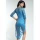 Elegante Vestido de encaje azul