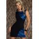 Elegante vestido vintage azul