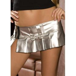 Minifalda de PVC plata