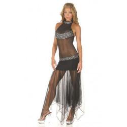 Vestido sexy largo transparente
